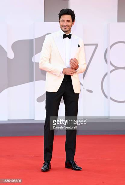 """Andrés Velencoso attends the red carpet of the movie """"Un Autre Monde"""" during the 78th Venice International Film Festival on September 10, 2021 in..."""
