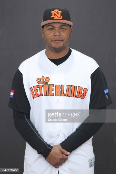 Andruw Jones of Team Netherlands poses for a headshot at Gocheok Sky Dome on Wednesday March 1 2017 in Seoul Korea