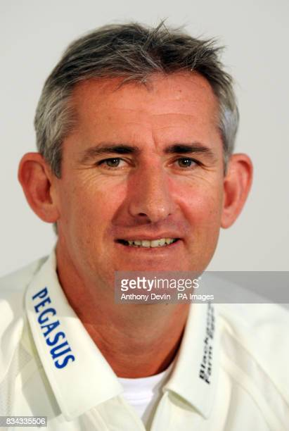 Andrw Caddick poses for the media as the England and Wales Cricket Board hold the launch of the domestic cricket season at Lord's Cricket Ground,...