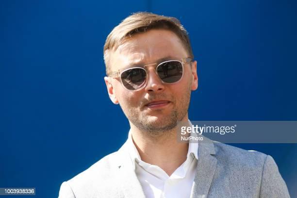 Andrzej Bargiel a Polish ski mountaineer mountain runner and climber portraited in Krakow Poland on 18 April 2018