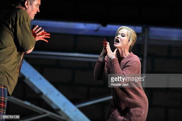 "Andrzej Dobber as Macbeth and Erika Sunnegardh as Lady Macbeth in Giuseppe Verdi's ""Macbeth"" directed by Richard Jones and conducted by Vasily..."