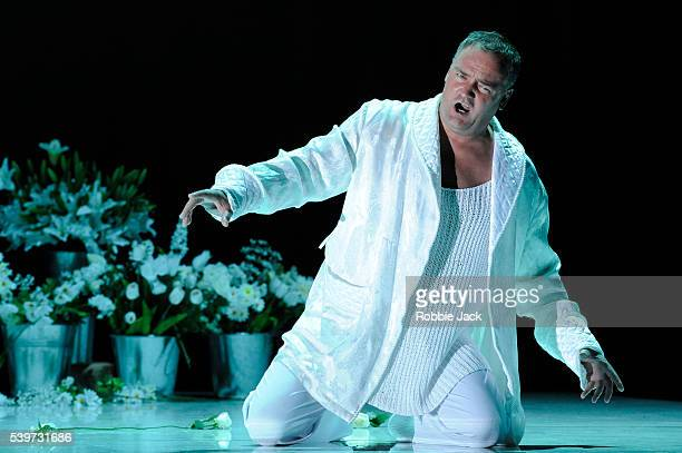 """Andrzej Dobber performs in the Mariinsky Opera Company's production """"Krol Roger"""" at the Festival Theatre in Edinburgh."""