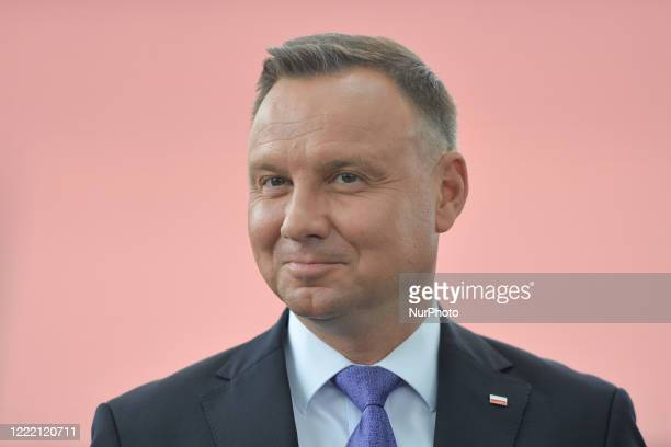 Andrzej Duda, the current Polish President and candidate for the presidential election 2020 during his visit in Wierzchoslawice. President Duda laid...