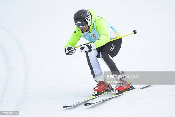 Andrzej Duda the President of the Republic of Poland skies at the fourth Maria Kaczynsk's Ski Alpin Memorial in the Slalom Giant 8 February 2016...