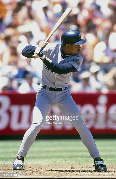 Andujar Cedeno of the Houston Astros stands at bat during their MLB game against the San Francisco Giants on June 15 1994 at Candlestick Park in San...