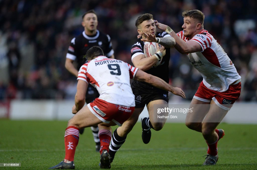 Andy Ackers of Toronto Wolfpack in action during the Betfred Championship match between Leigh Centurions and Toronto Wolfpack on February 4, 2018 in Leigh, Greater Manchester.