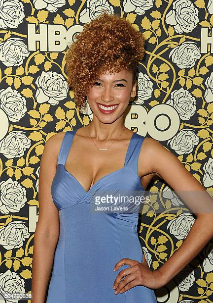 Andy Allo attends HBO's post 2016 Golden Globe Awards party at Circa 55 Restaurant on January 10 2016 in Los Angeles California
