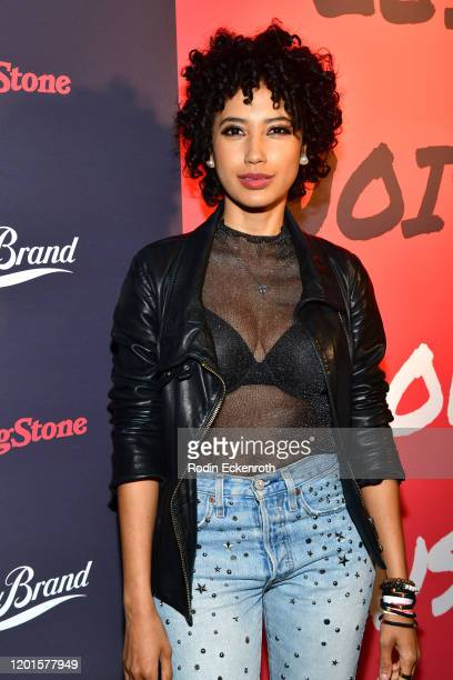 Andy Allo attends Less Noise More Music Lucky Brand presents Third Eye Blind Special Guest on January 23 2020 in Los Angeles California