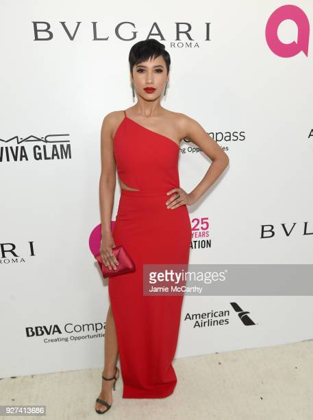 Andy Allo attends the 26th annual Elton John AIDS Foundation Academy Awards Viewing Party sponsored by Bulgari celebrating EJAF and the 90th Academy...