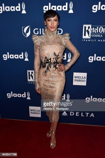 Andy Allo attends the 29th Annual GLAAD Media Awards at The Beverly Hilton Hotel on April 12 2018 in Beverly Hills California