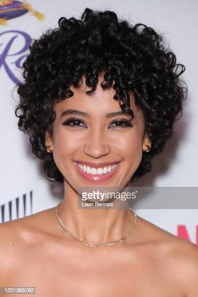 Andy Allo attends The African American Film Critics Association's 11th Annual AAFCA Awards at Taglyan Cultural Complex on January 22 2020 in...