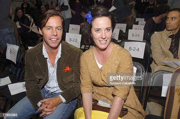 Andy and Kate Spade pose at the Three As Four Summer 2007 show on September 15, 2006 in New York City.