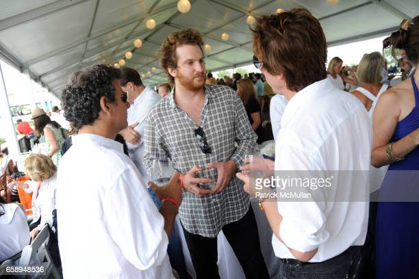 Andy Arons Evan Yurman and Craig McDean attend DAVID YURMAN Celebrates the 34th Annual HAMPTON CLASSIC at The Grand Prix Tent on August 30 2009 in...