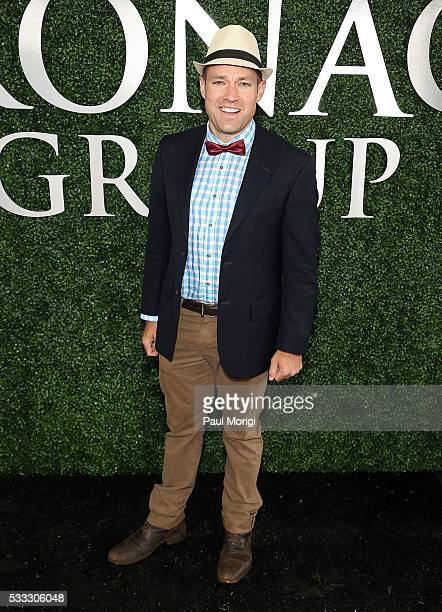 Andy Baldwin ABC The Bachelor 10th Season 'The Bachelor Officer and a Gentleman' attends The Stronach Group Owner's Chalet at 141st The Preakness at...