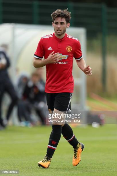 Andy Barlow of Manchester United during the U18 Premier League match between West Bromwich Albion and Manchester United on August 19 2017 in West...