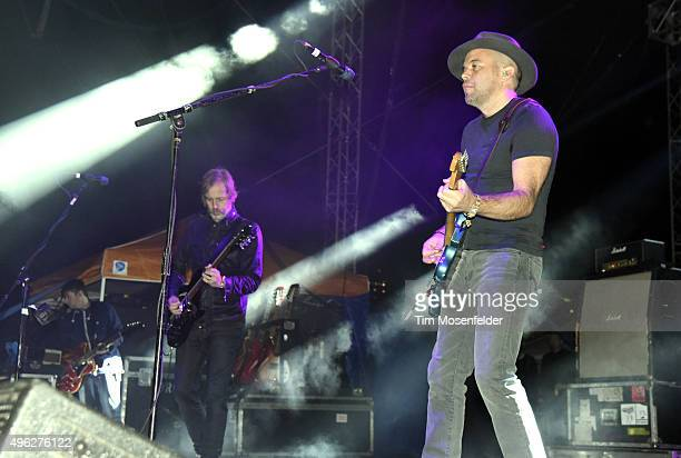 Andy Bell and Mark Gardener of Ride perform during Fun Fun Fun Fest 2015 at Auditorium Shores on November 7 2015 in Austin Texas