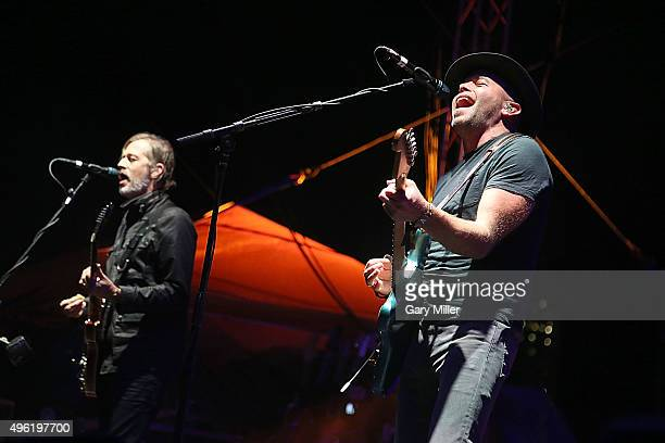 Andy Bell and Mark Gardener of Ride perform in concert during day two of Fun Fun Fun Fest at Auditorium Shores on November 7 2015 in Austin Texas