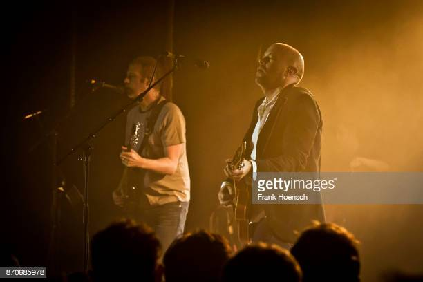 Andy Bell and Mark Gardener of the British band Ride perform live on stage during a concert at the Festsaal Kreuzberg on November 5 2017 in Berlin...
