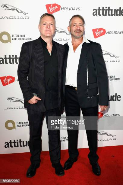 Andy Bell and Stephen Moss attend the Virgin Holiday's Attitude Awards 2017 at The Roundhouse on October 12 2017 in London England