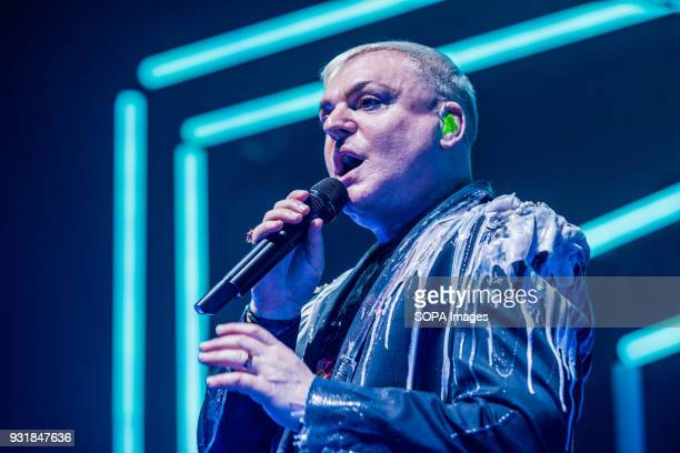 Andy Bell from Erasure seen performing as part of his 'World Be Gone' Tour at Dublin's Olympia Theatre