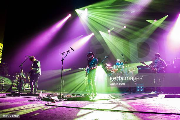 Andy Bell Mark Gardener Steve Queralt and Laurence Colbert from Ride perform at O2 Academy Brixton on October 14 2015 in London England