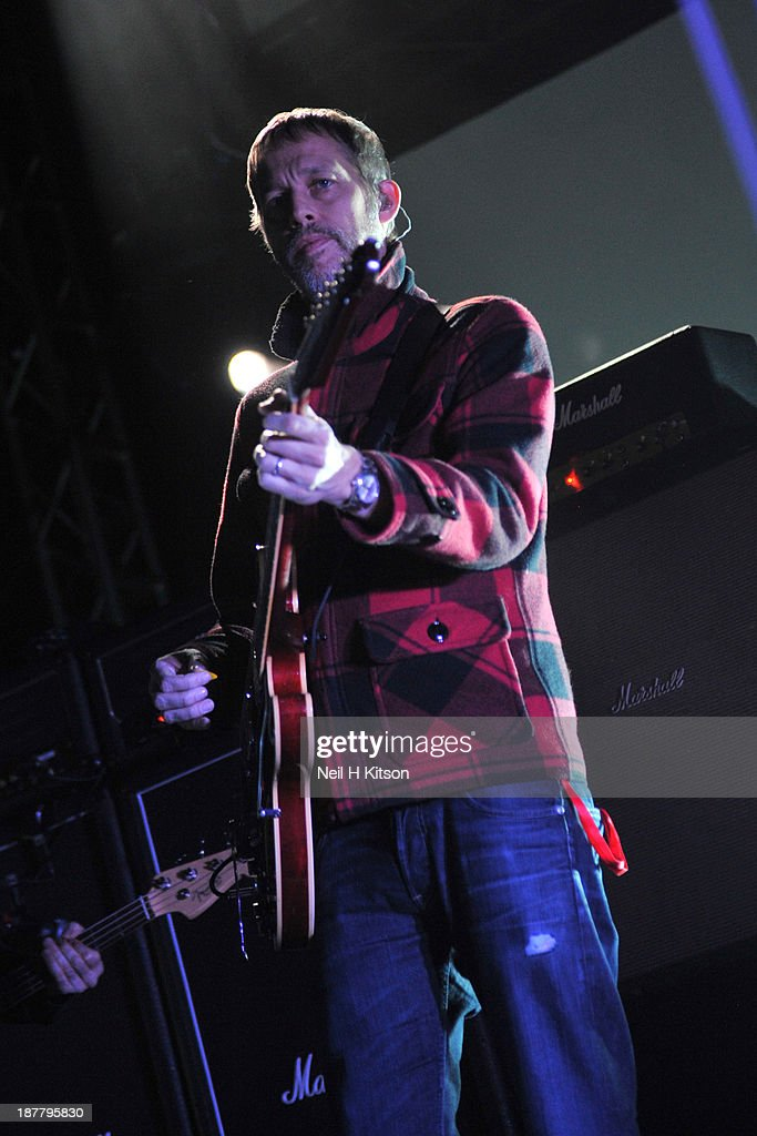 Andy Bell of Beady Eye performs on stage at O2 Academy on November 12, 2013 in Leeds, England.