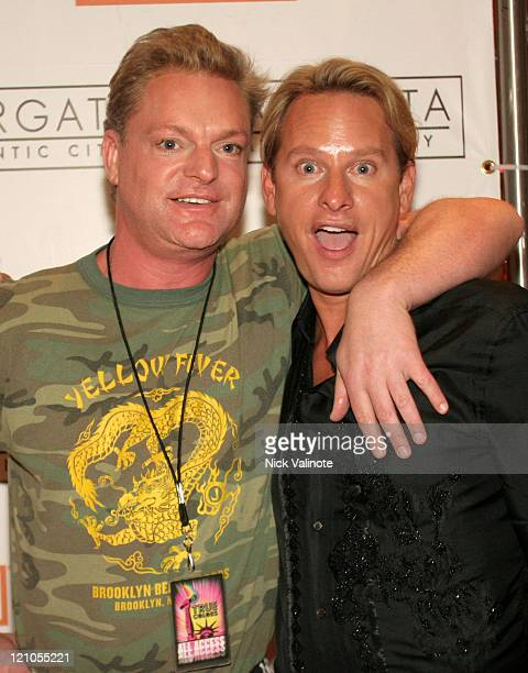Andy Bell of Erasure and Carson Kressley during Cyndi Lauper's 'True Colors Tour 2007' at the Borgata in Atlantic City June 15 2007 at The Borgata...