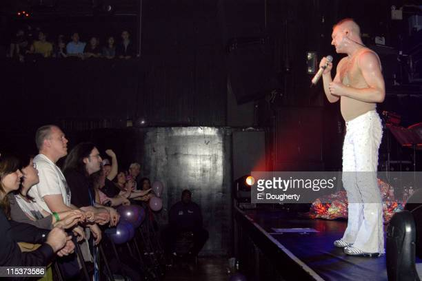 Andy Bell of Erasure during Andy Bell Celebrates Birthday During an Erasure Performance at Irving Plaza April 25 2005 at Irving Plaza in New York...