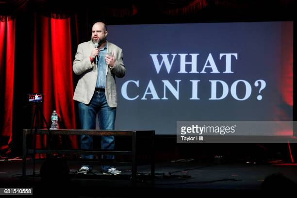 Andy Bernstein of Headcount speaks during the 2017 Relix Live Music Conference at Brooklyn Bowl on May 10 2017 in New York City