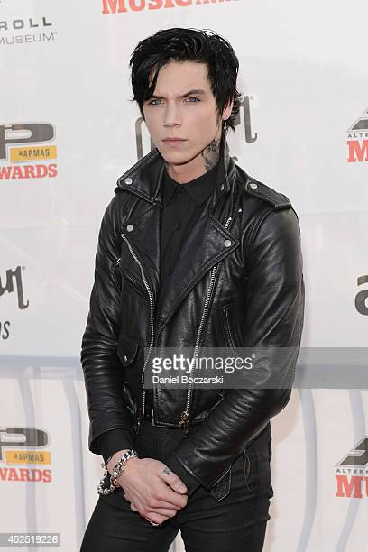 Andy Biersack attends the 2014 Gibson Brands AP Music Awards at the Rock and Roll Hall of Fame and Museum on July 21 2014 in Cleveland Ohio