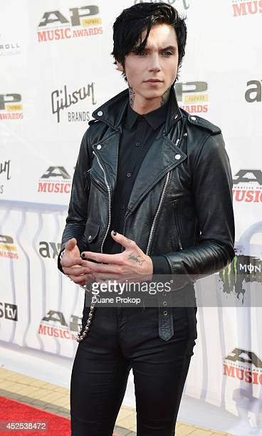 Andy Biersack of Black Veil Brides attends the 2014 Gibson Brands AP Music Awards at the Rock and Roll Hall of Fame and Museum on July 21 2014 in...