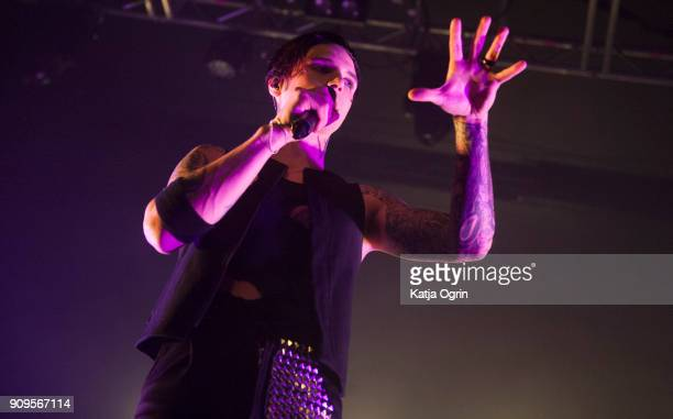 Andy Biersack of Black Veil Brides performs live on stage at O2 Academy Birmingham on January 23 2018 in Birmingham England