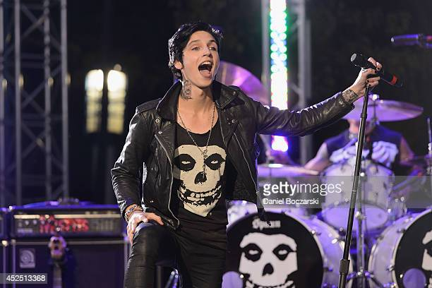 Andy Biersack of Black Veil Brides performs on stage at the 2014 Alternative Press Music Awards at Rock and Roll Hall of Fame and Museum on July 21...