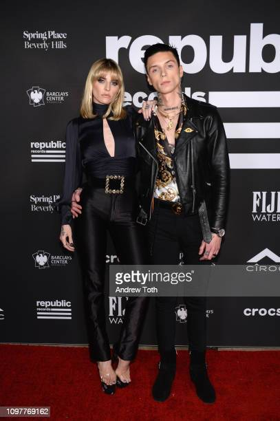 Andy Black and Juliet Simms attend Republic Records Grammy after party at Spring Place Beverly Hills on February 10 2019 in Beverly Hills California