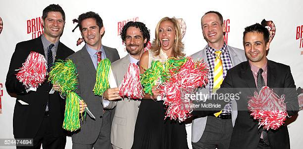 Andy Blankenbuehler Amanda Green Jeff Whitty LinManuel Miranda attending the Broadway Opening Night Performance of 'Bring it On The Musical' at the...