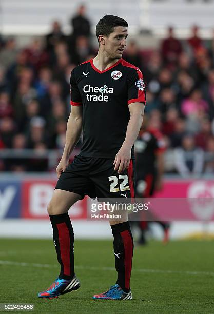 Andy Bond of Crawley Town in action during the Sky Bet League Two Match between Northampton Town and Crawley Town at Sixfields Stadium on April 19...