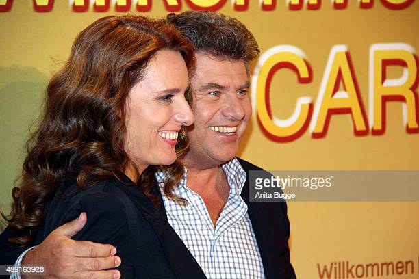 Andy Borg and Birgit Borg arrive to the television show 'Willkommen bei Carmen Nebel' at Velodrom on September 19 2015 in Berlin Germany