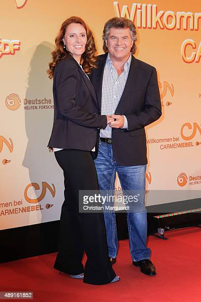 Andy Borg and wife Birgit attend the red carpet of the television show 'Willkommen bei Carmen Nebel' at Velodrom on September 19 2015 in Berlin...