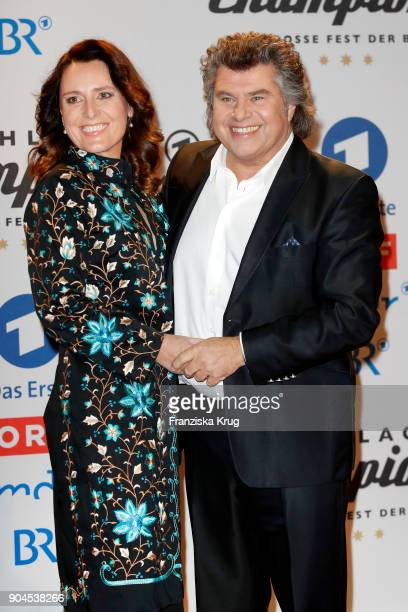 Andy Borg and wife Birgit during the 'Schlagerchampions Das grosse Fest der Besten' TV Show at Velodrom on January 13 2018 in Berlin Germany