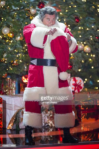 Andy Borg as Santa Borg performs during the 'Heiligabend mit Carmen Nebel' TV show at Bavaria Filmstudios on November 26 2015 in Munich Germany
