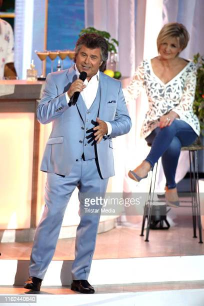 Andy Borg during the television show Willkommen bei Carmen Nebel at BadenArena on July 13 2019 in Offenburg Germany