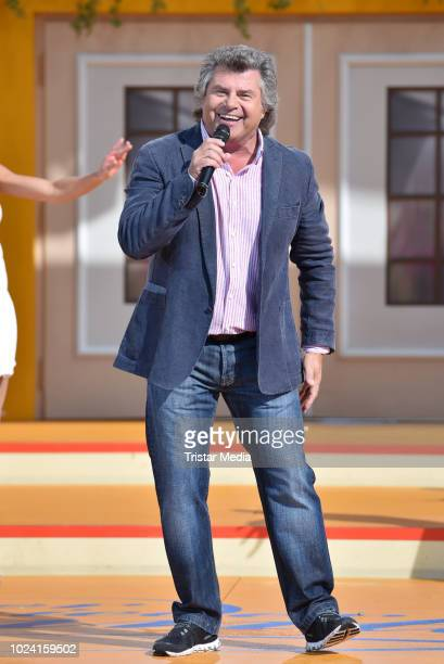 Andy Borg during the tv show 'Immer wieder sonntags' at Europa-Park on August 26, 2018 in Rust, Germany.