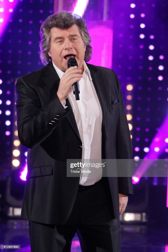 Andy Borg during the TV Show 'Meine Schlagerwelt - Die Party' hosted by Ross Antony on January 31, 2018 in Leipzig, Germany.