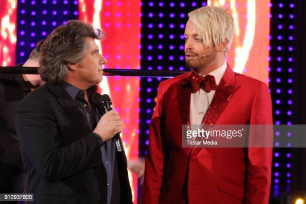 Andy Borg nd Ross Antony during the TV Show 'Meine Schlagerwelt Die Party' hosted by Ross Antony on January 31 2018 in Leipzig Germany