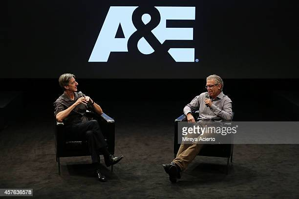 Andy Borowitz from The New Yorker and Carlton Cuse attend Creative Keynote Series featuring Carlton Cuse during 2014 New York Television Festival at...