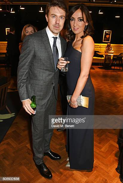 Andy Buchan and Sally Nugent attend the 21st National Television Awards at The O2 Arena on January 20 2016 in London England