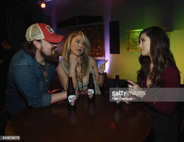 Andy Buckner Leah Turner and Colby Dee backstage during ForgetMeNot A Night Of Music For Alzheimer's Awareness at 3rd Lindsley on February 21 2017 in...