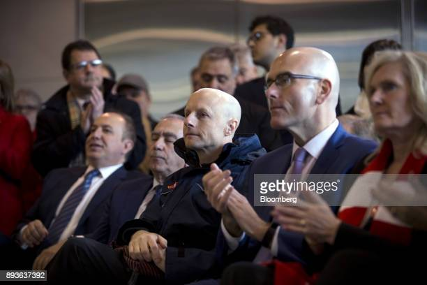 Andy Byford chief executive officer of the Toronto Transit Commission center listens during the opening of the TCC Line 1 extension in Vaughan...