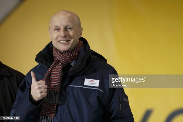 Andy Byford chief executive officer of the Toronto Transit Commission gestures while arriving for the opening of the TCC Line 1 extension in Vaughan...