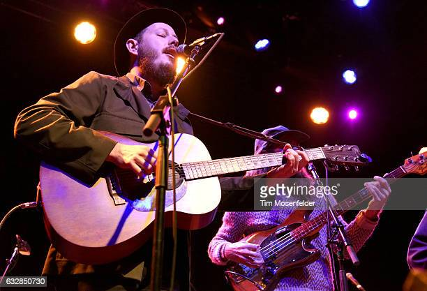 Andy Cabic of Vetiver performs at The Fillmore on January 26 2017 in San Francisco California